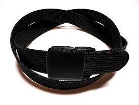/ブラック(黒)32ミリナイロン プラスティックバックルベルト 樹脂バックルベルト / 日本製 / フルサイズ対応 / 1本までメール便対応可 / あす楽対応