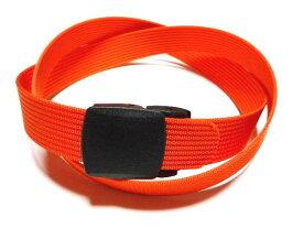 /オレンジ32ミリナイロン プラスティックバックルベルト 樹脂バックルベルト / 日本製 / フルサイズ対応 / 1本までメール便対応可 / あす楽対応
