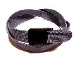 /グレー32ミリナイロン プラスティックバックルベルト 樹脂バックルベルト / 日本製 / フルサイズ対応 / 1本までメール便対応可 / あす楽対応