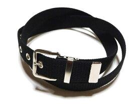 32ミリ幅 綿(コットン) 1Pベルトブラック (黒)1梱包3本までメール便対応可 日本製 フルサイズ対応