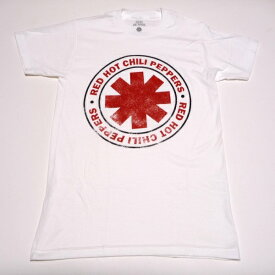 /RED HOT CHILI PEPPERS レッドホットチリペッパーズDISTRESSED OUTLINED LOGO オフィシャル バンドTシャツ / 2枚までメール便対応可