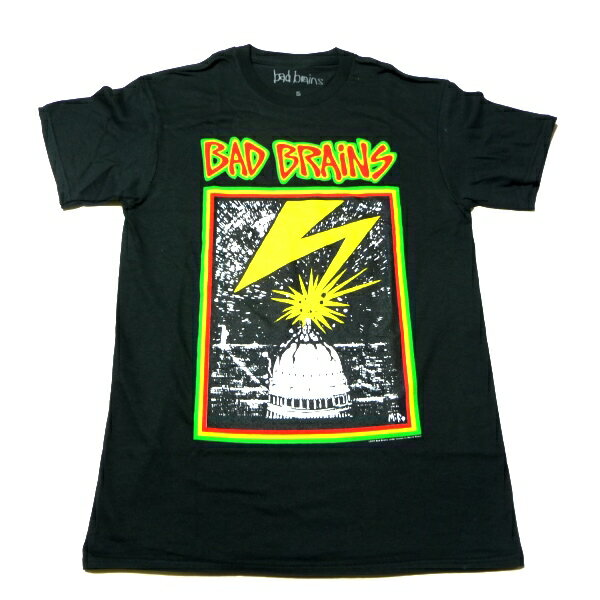 /BAD BRAINS バッドブレインズCAPITOL BLACK オフィシャル バンドTシャツ / 2枚までメール便対応可 / 正規ライセンス品
