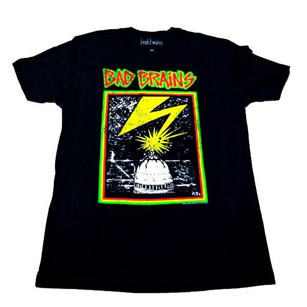 /BAD BRAINS バッドブレインズDISTRESSED CAPITOL FITTED オフィシャル バンドTシャツ / 2枚までメール便対応可 / あす楽対応