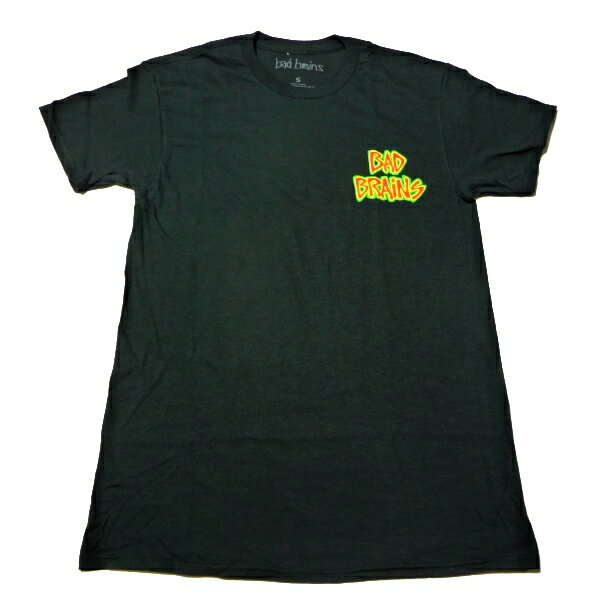 / BAD BRAINS バッドブレインズLOGO FRONT オフィシャル バンドTシャツ / 2枚までメール便対応可 / 正規ライセンス品