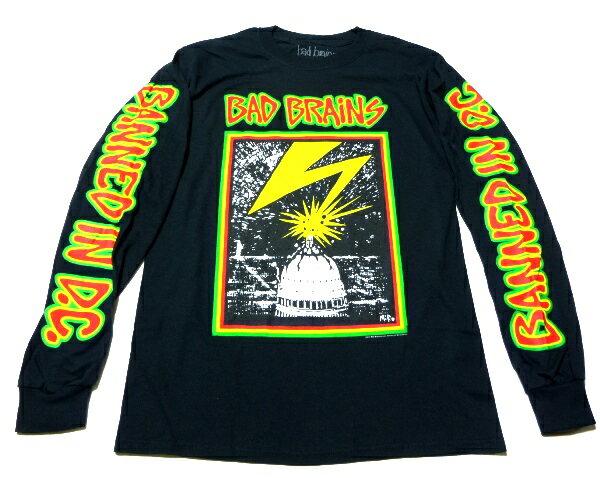 / BAD BRAINS バッドブレインズCAPITOL MENS LS ロングスリーブ オフィシャル バンドTシャツ / 1枚までメール便対応可 / 正規ライセンス品
