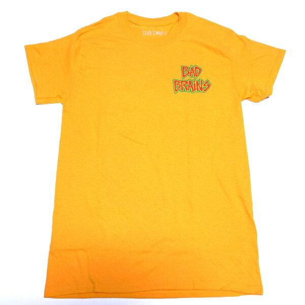/ BAD BRAINS バッドブレインズLOGO FRONT ON YELLOW オフィシャル バンドTシャツ / 2枚までメール便対応可 / 正規ライセンス品