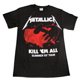 /METALLICA メタリカKILLEM ALL TOUR 83' オフィシャル バンドTシャツ 2枚までメール便対応可 / あす楽対応