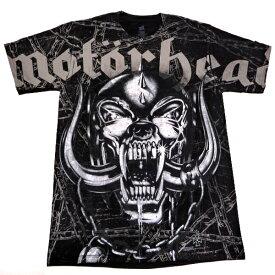 /MOTORHEAD モーターヘッドDOGSKULL AND CHAINS All Over Print オフィシャル バンドTシャツ / 2枚までメール便対応可 / あす楽対応