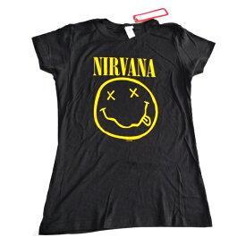 /NIRVANA ニルヴァーナSMILE JUNIORS レディースオフィシャルバンドTシャツ / 2枚までメール便対応可 / あす楽対応
