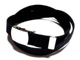 ブラック (黒)32ミリ 綿 GIベルト ガチャベルト ローラーバックルベルト 1梱包3本までメール便対応可 日本製 フルサイズ対応