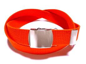 /オレンジ32ミリ 綿 GIベルト ガチャベルト ローラーバックルベルト / 日本製 / フルサイズ対応 / 3本までメール便対応可