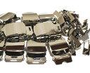 / 100個セットGIベルト用 / ガチャベルト用32ミリ幅 ローラーバックル・先金セット バラ売りニッケルメッキ / 日本製