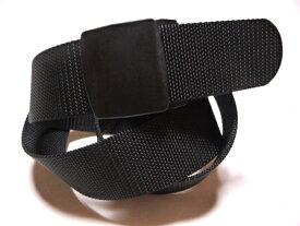 /ブラック 40ミリナイロン プラスティックバックル(樹脂バックル)ベルト / 日本製 / フルサイズ対応 / 1本までメール便対応可 / あす楽対応