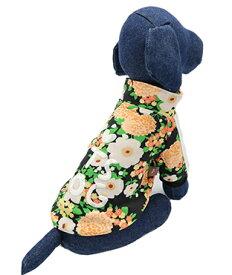 ITS DOG JAPAN ゴーゴーアイドルジャージ ブラックフラワー 犬の服 SM
