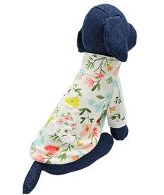 ITS DOG JAPAN ゴーゴーアイドルジャージ ホワイトフラワー 犬の服 2XL