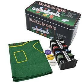 ティー・エー・ナイン 本格的 テキサスホールデム ポーカー カジノゲーム トランプ2個 チップ200枚 マット