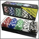 [B.H] 本格派 カジノチップ 100枚 《 アクリルケース & 箱付き》 無地 おしゃれ 重量感 ポーカーチップ 1年保証 (Coo…