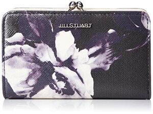 [ジルスチュアート] 折財布 【グロスペタル】 オリジナル花柄プリント 牛革エナメル 型押し 二つ折り財布 がま口 オリジナルチャーム