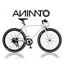 【ANIMATOアニマート】クロスバイク CITY SURF(シティサーフ) 700c 自転車 街乗り ストリート おしゃれ スピード おす…