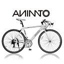 【ANIMATOアニマート】ロードバイク MC2(エムシーツー) 700c 自転車 軽量 アルミフレーム スピード スタイリッシュ 通勤 通学 ストリート おす...