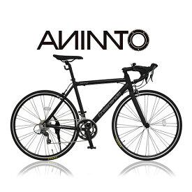 【ANIMATOアニマート】ロードバイク CRESCENDO(クレシェンド) 700c 自転車 軽量 アルミフレーム スピード スタイリッシュ【シマノ16段変速】