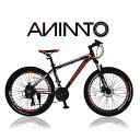 【ANIMATOアニマート】 MTB ATTITUDE XCA200(アティテュード) 26インチ マウンテンバイク ディスクブレーキ 街乗り 通…