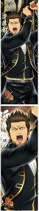 銀魂 キャラポスコレクション 第9弾 近藤 勲 (2種) 単品 ポスター 2枚セット 描きおこし&デザインバリエーション 条件付返品不可商品