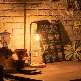 【テーブルライト LED電球セット 1灯 AMP(アンプ) おしゃれ 照明 電気 ライト スタンド テラリウム 間接照明 北欧 カフェ風 西海岸 かわいい ダイニング 】 【endsale_18】
