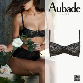 【Aubade】オーバドゥROSESSENCEローズエッセンスハーフカップブラ Blackカラー(HK14)ブラジャー