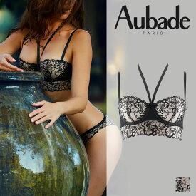 【Aubade】オーバドゥREVERIE MALICIEUSEレヴィリィマリシュ—ハーフカップブラ NOIRカラー(HH14)
