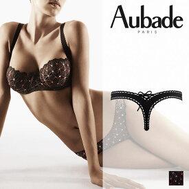 【50%オフ】フランス【Aubade】オーバドゥ5000 BAHIA(バイア)Bois de Roseカラー(ブラック)タンガ(5026)