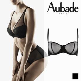 【Aubade】オーバドゥNUDEESSENCE(ヌードエッセンス)ハーフカップブラ Blackカラー(FM14)