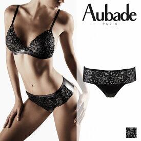 【50%オフ】フランス【Aubade】オーバドゥCUIR DE ROSEクリールドゥローズホットタンガ LAQUE(ブラック)カラー(FE71)ホットタンガ