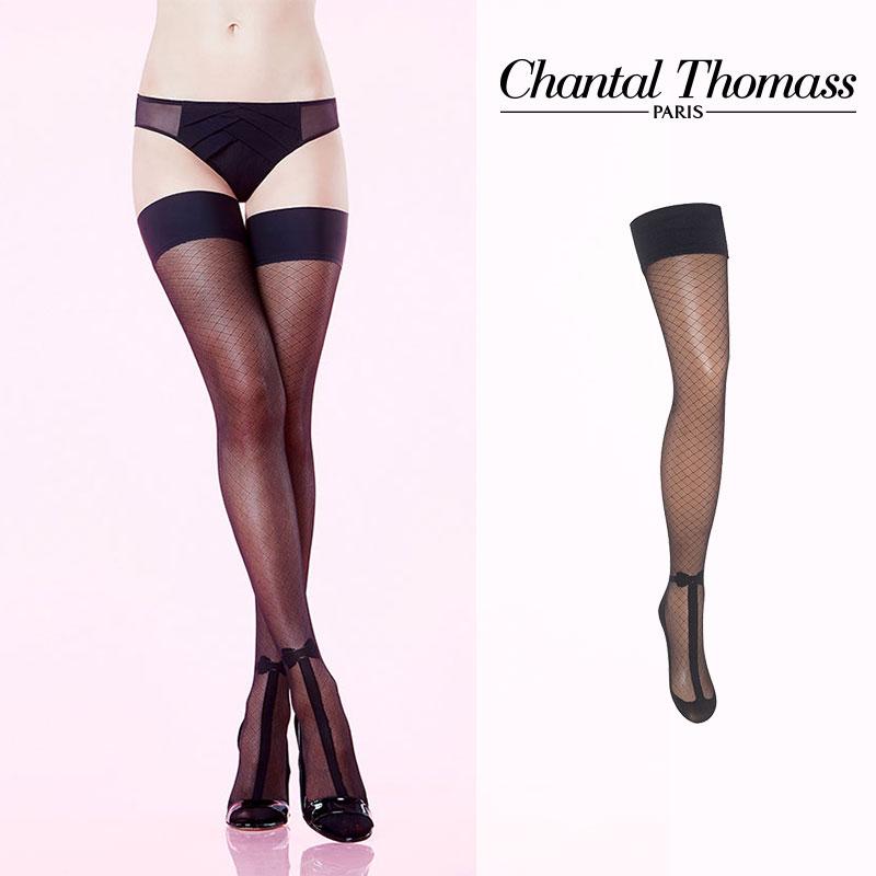 【50%オフ】フランス【ChantalThomass】シャンタルトーマスMAGIE STAY-UPS ステイアップ TT5860 Black カラー