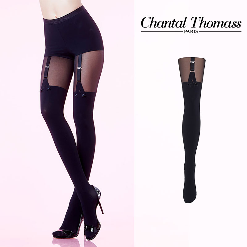 【50%オフ】フランス【ChantalThomass】シャンタルトーマスDANDYSSIME PANTYHOSE CUT&SEWN タイツ 25D TT5980 Black カラー