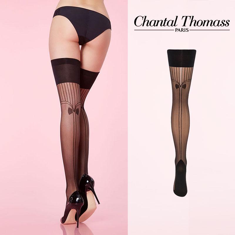 【50%オフ】フランス【ChantalThomass】シャンタルトーマスSmoking Stay-ups ステイアップ BlackカラーTT4320Black カラー