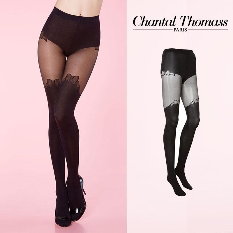【50%オフ】フランス【ChantalThomass】シャンタルトーマスMiss Bow Pantuhose タイツ Black カラーTT4330Black カラー