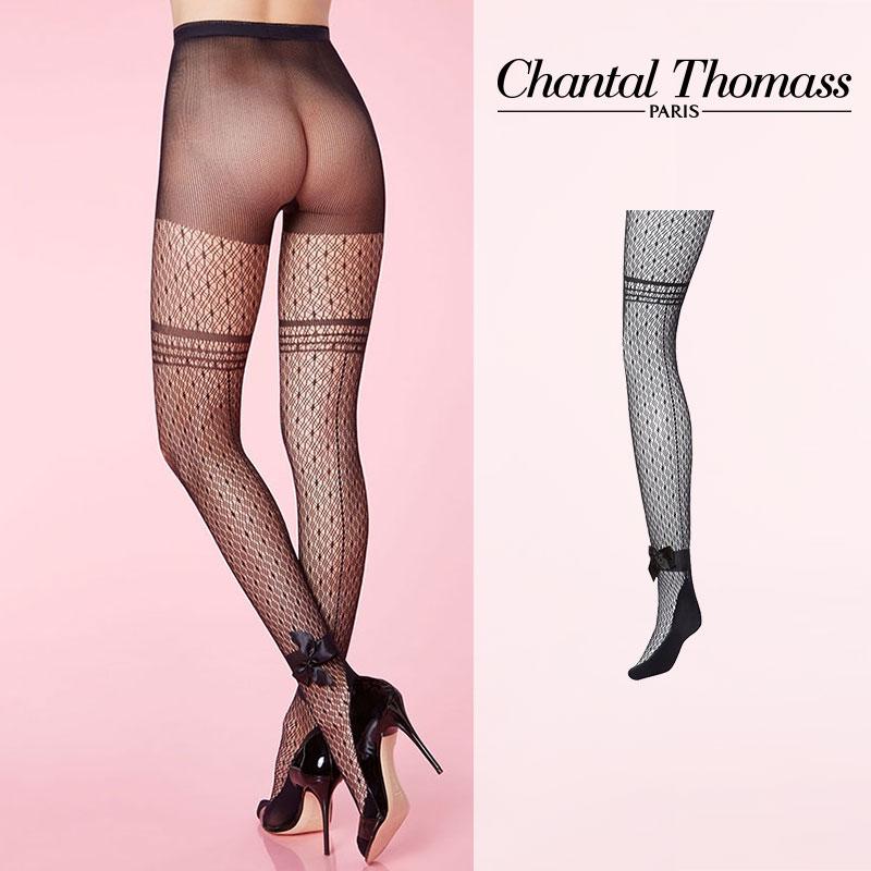 【50%オフ】フランス【ChantalThomass】シャンタルトーマスCabaret Fishnet Pantyhose 網タイツ Black カラーTT4360
