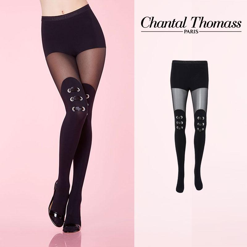 【50%オフ】フランス【ChantalThomass】シャンタルトーマスOeillets Doux cut and sewn Pantyhose タイツ Black カラー TT6140