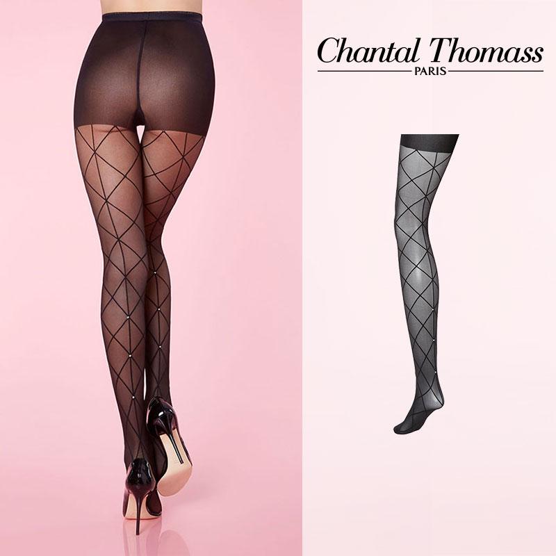 【50%オフ】フランス【ChantalThomass】シャンタルトーマスChic Veli Pantyhose ストッキング BlackカラーTT2390Black カラー