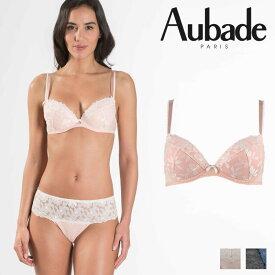 【30%オフ】【Aubade】オーバドゥMJ FEMME Charmeuse ダブルパデッドブラ Rose Dustカラー(MJ18)