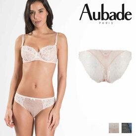 【30%オフ】【Aubade】オーバドゥMJ FEMME Charmeuse イタリアンショーツ Rose Dustカラー(MJ27)