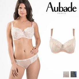 【30%オフ】【Aubade】オーバドゥMJ FEMME Charmeuse コンフォートフルカップブラ Rose Dustカラー(MJ13)