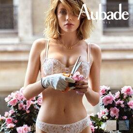 【30%オフ】【Aubade】オーバドゥMJ FEMME Charmeuse ハーフカップブラ Rose Dustカラー(MJ14)