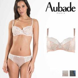 【30%オフ】【Aubade】オーバドゥMJ FEMME Charmeuse 3/4カップブラ Rose Dustカラー(MJ15)