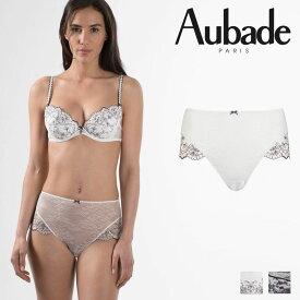【50%オフ】【Aubade】オーバドゥFemme Romantique(フェム ロモティク)ハイウエストショーツ(MB24)Prim Roseカラー