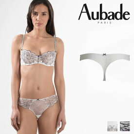 【50%オフ】【Aubade】オーバドゥFemme Romantique(フェム ロモティク)タンガ(MB26)Prim Roseカラー