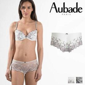 【50%オフ】【Aubade】オーバドゥFemme Romantique(フェム ロモティク)ボクサー(MB70)Prim Roseカラー
