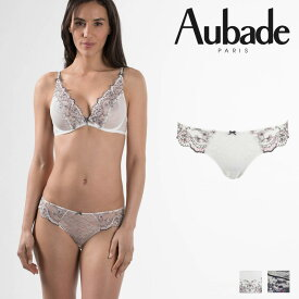 【50%オフ】【Aubade】オーバドゥFemme Romantique(フェム ロモティク)ブラジリアンショーツ(MB22)Prim Roseカラー