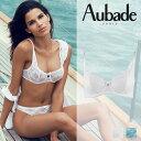 【50%OFF】フランス【Aubade】オーバドゥMambo de l'Amour(マンボドゥラムール)ハーフカップブラ Whiteカラー(CF14)